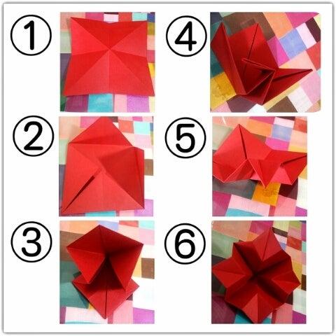 ハート 折り紙 折り紙でバラの作り方 : ameblo.jp