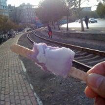 中国の線路とアイスと