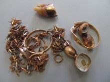 18金 ネックレス 指輪 金歯