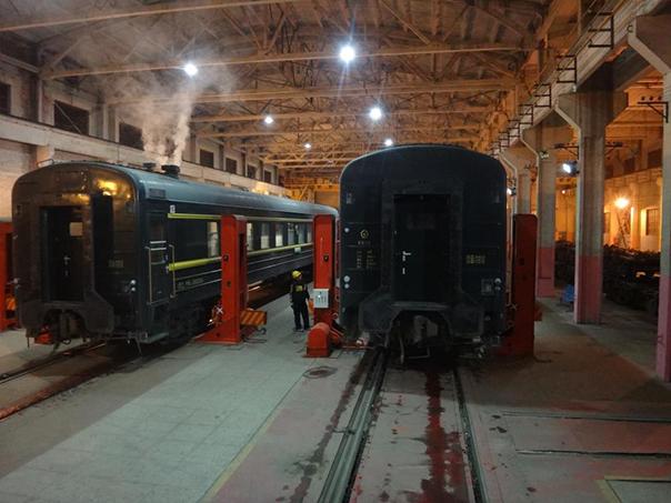 シベリア鉄道 車輪の交換