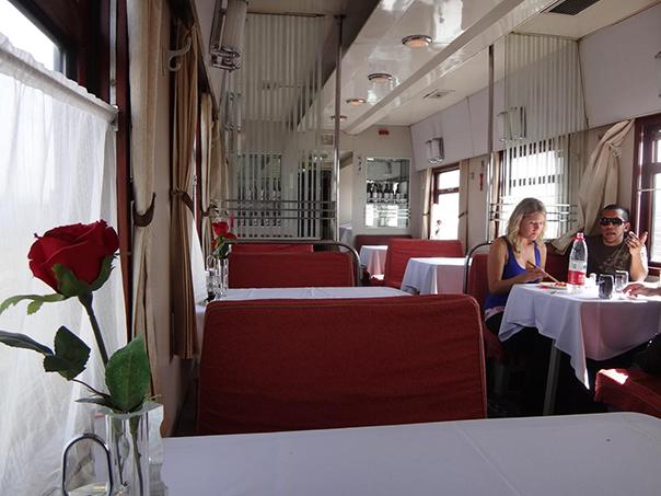 シベリア鉄道 食堂車