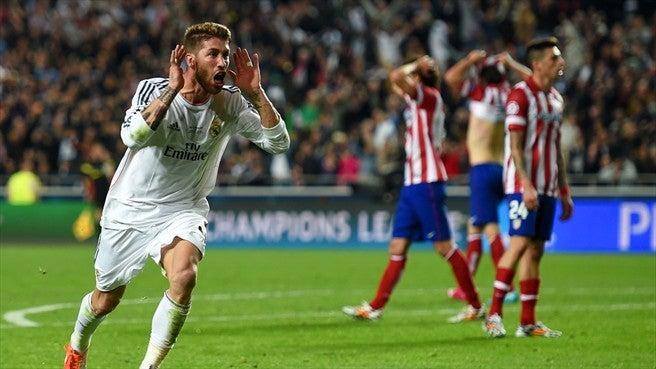 セルヒオ・ラモス UEFAチャンピオンズリーグ 決勝 final アトレティコ レアル マドリード ダービー リスボン