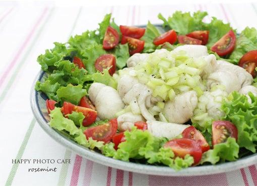 『ネギ塩だれの水晶鶏サラダ』