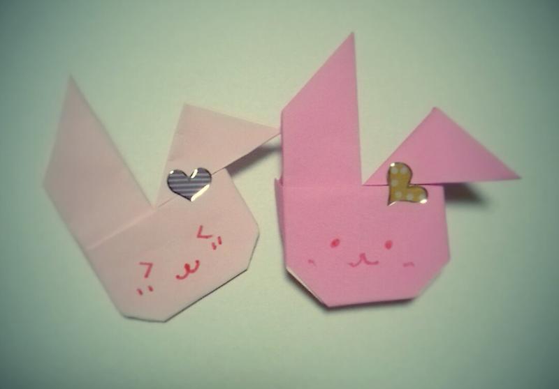 クリスマス 折り紙:うさぎ 折り紙 簡単-ameblo.jp