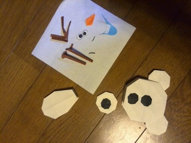 すべての折り紙 折り紙 オラフ 折り方 : ... オラフの折り方 ~ 組立編