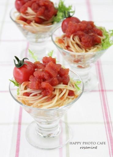 『トマトジュレポン酢のパスタサラダ』