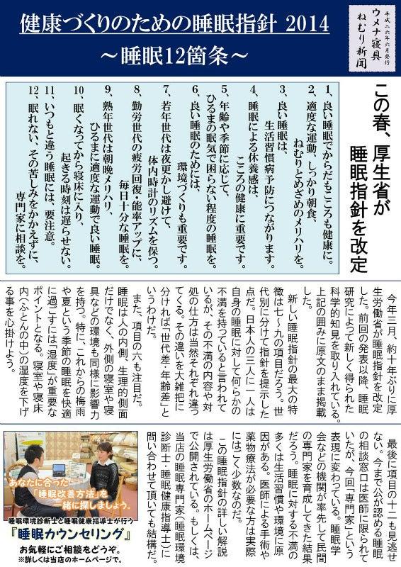 2014眠り新聞夏1
