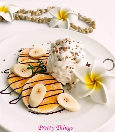 ハワイアンパンケーキのデザートプレート