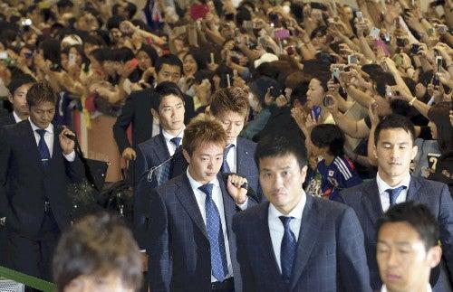 日本代表 帰国 ブラジルW杯 ワールドカップ 決勝トーナメント ベスト16
