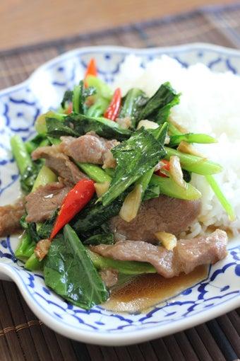 カイラン菜炒めかけご飯