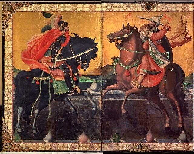 泰西王侯騎馬図 文化遺産オンライン