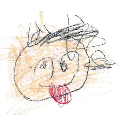 子供の絵でつくる 時計