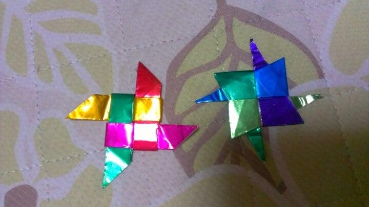 クリスマス 折り紙 : 折り紙 手裏剣 4枚 : ameblo.jp