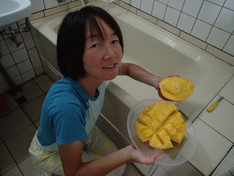 マンゴー食べる