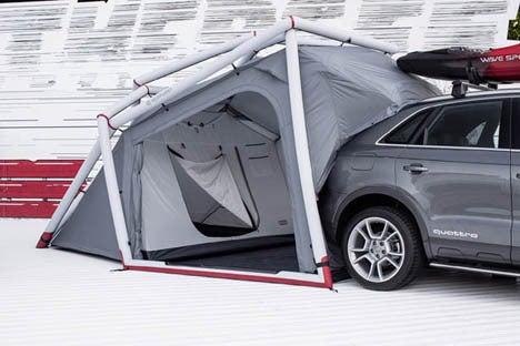 車のハッチに連結するテント! !2