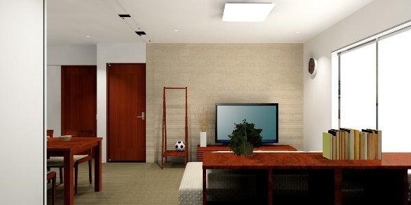 ウォールナットの家具で統一した3Dコーディネート