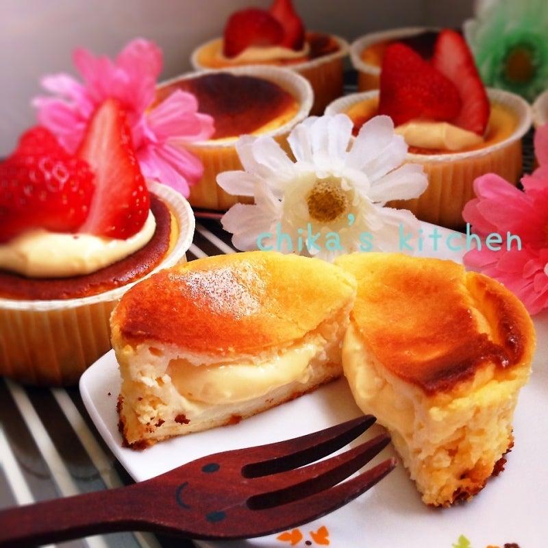 ミキサーで♪とろ~りクリームinヘルシーベイクドチーズケーキ