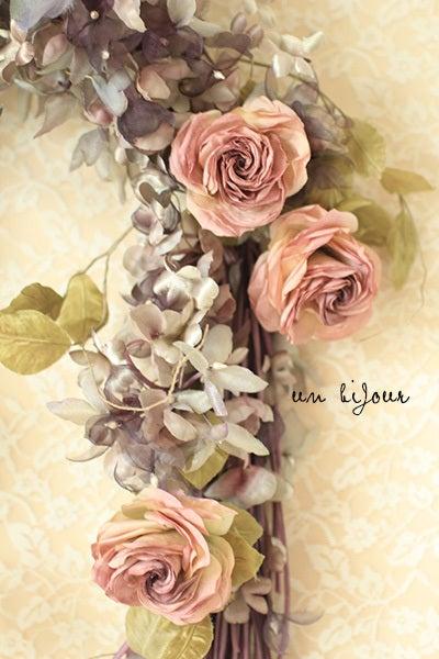 バラ 布花 染花