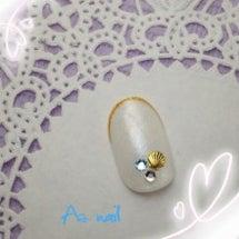 貝殻ジュエリーネイル