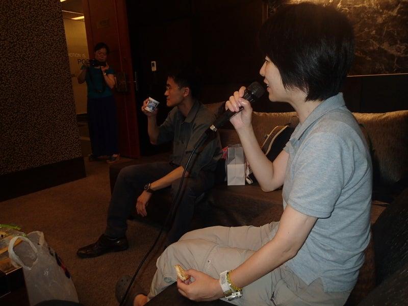 三島さん歌う