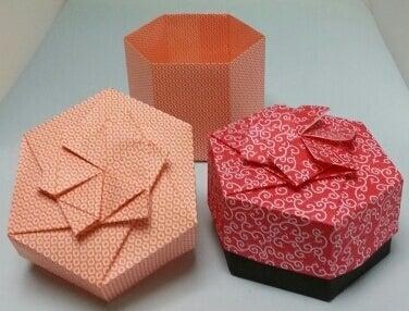 ハート 折り紙:折り紙六角形箱折り方-ameblo.jp