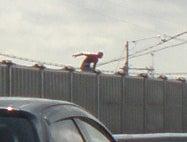 遠くに見えるスパイダーマン