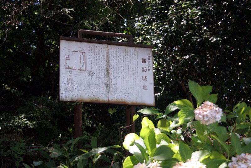 荻原諏訪城/⑤説明板