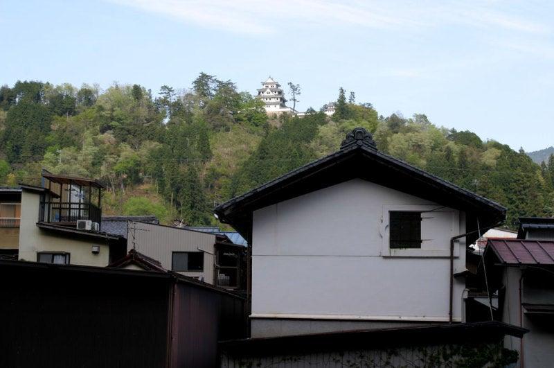郡上八幡城/①町から見上げたところ