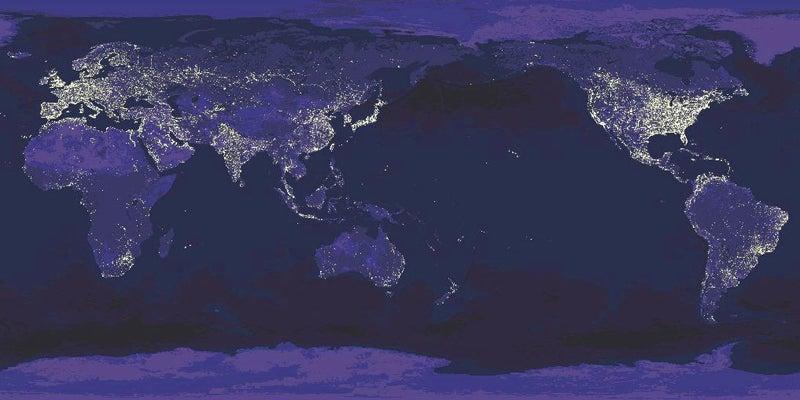 夜の衛星写真
