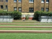 芝生で休憩