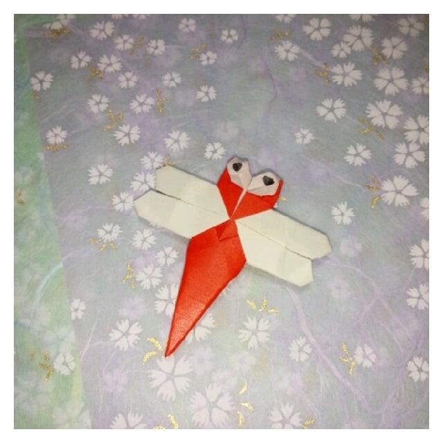 ハート 折り紙:折り紙トンボの作り方-divulgando.net
