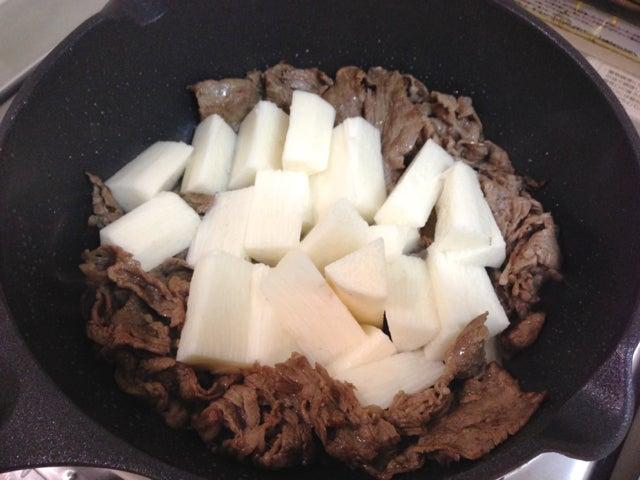 山芋の梅しそ炒め2