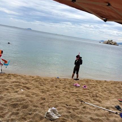 ホテル近くの穴場ビーチ