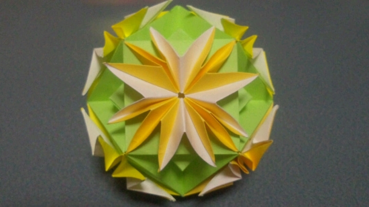ハート 折り紙:折り紙くす玉6枚-ameblo.jp