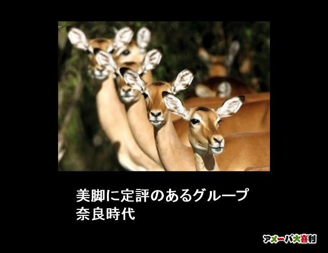 美脚に定評のあるグループ 奈良時代