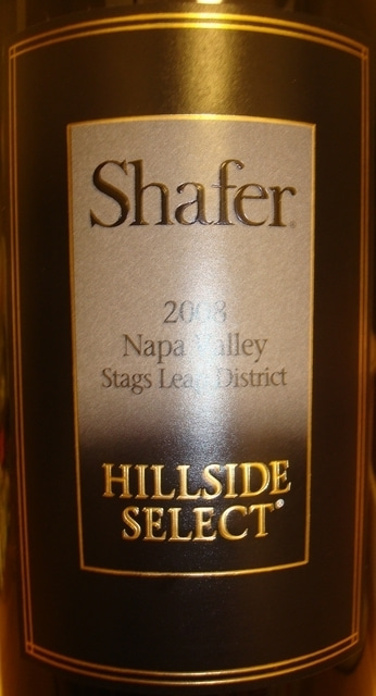 Shafer HillSide Select Napa Valley 2008