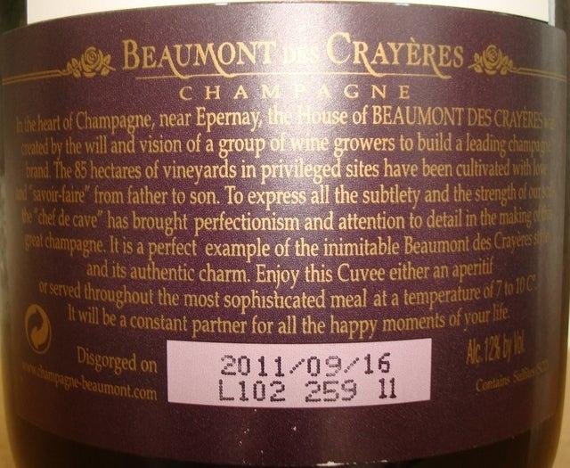 Beaumont des Crayeres Grande Reserve part2