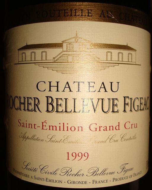 Chateau Rocher Bellevue Figeac 1999