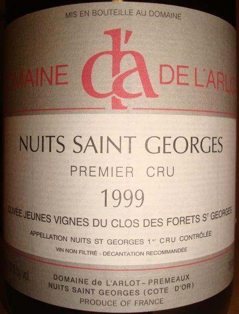 Nuits Saint Georges Premier Cru de L'Arlot 1999