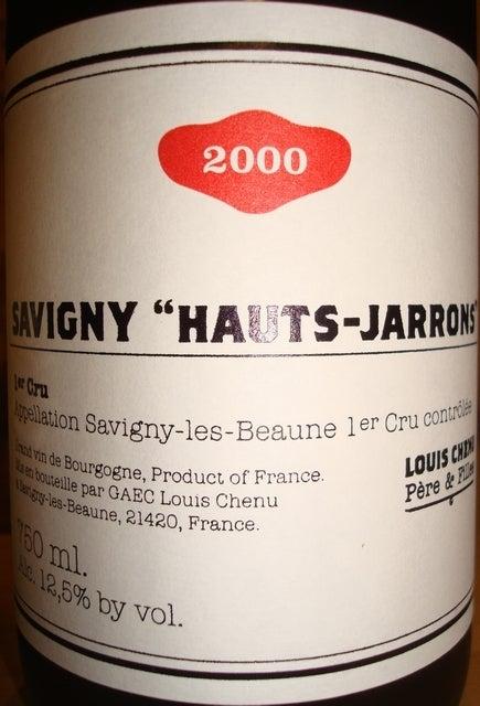 Savigny Hauts Jarrons Louis Chenu 2000