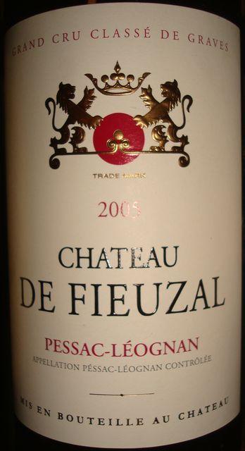 Chateau De Fieuzal 2005