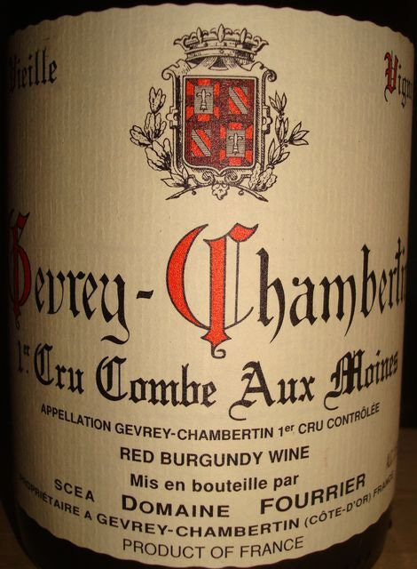 Gevrey Chambertin Combe Aux Moines 1999 Fourrier