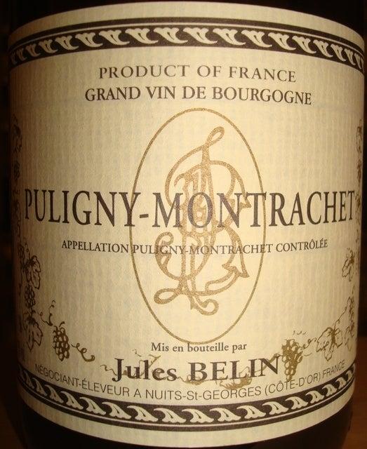 Puligny Montrachet Jules Belin 2008