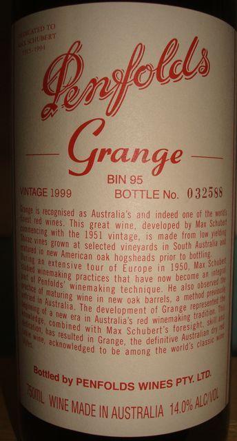 Penfolds Grange 1999