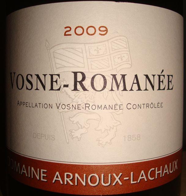 Vosne Romanne Domaine Arnoux Lachaux 2009
