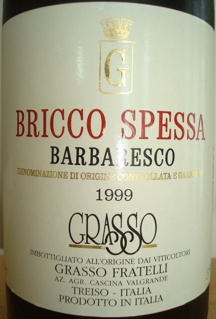 Barbaresco Bricco Spessa Grasso Fratelli 1999