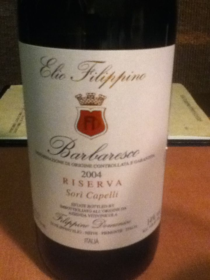 Elio Filippino Barbaresco Sari Capelli 2004