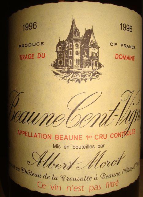 Beaune Cent Vigne Albert Morot 1996