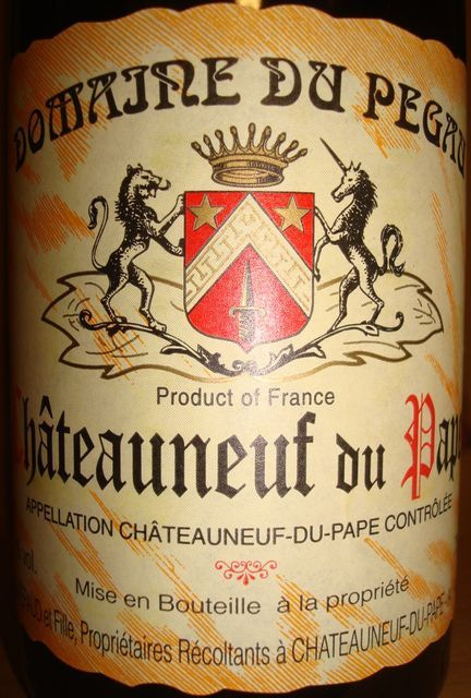 Chateauneuf du Pape Domaine Du Pegau 1999 No1