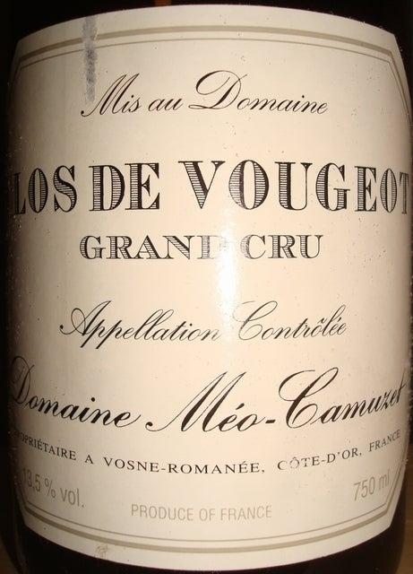 Clos De Vougeot Domaine Meo Camuzet 1999